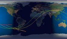 Laboratório Espacial Chinês Cai Sobre o Pacífico